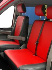 PEUGEOT EXPERT VAN SEAT COVERS 2011 RED LEATHERETTE VSC500 MADE TO MEASURE