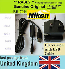 Original NIKON EH-70P AC Adapter Charger + USB Cable CoolPix S2700 S2800 S2900