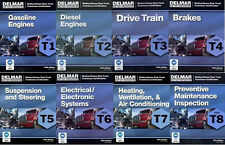 DELMAR ASE T1-T8 Heavy Truck Test Prep Manual Set Home Study Answers Book Exam