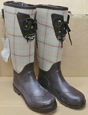 Laura Ashley Womens Brown Chequered Hunter Wellies Wellington Boots UK: 4,6,7,8
