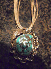 """B. BGAY"" NATIVE AMERICAN JEWELRY-TURQUOISE NECKLACE & PENDANT & RING"