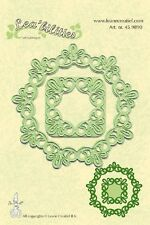 Lea'bilities Cutting and Embossing Die Stencil - FRAME ROUND LACE Leane 45.9890