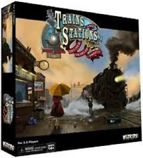TRAINS & STATIONS WIZKIDS BOARD GAME BRAND NEW & SEALED !! CLOSEOUT !!