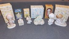 Set 6 Precious Moments Figurines Ornaments Duck Puppy Mouse Christmas