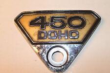 Pages couvercle emblème badge side cover, emblème Honda CB 450 K, DOHC