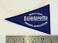 BLOA Lambretta FLAG Patch - Embroidered - Iron or Sew On