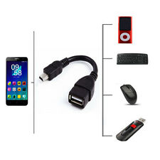 Mini USB to USB A 2.0 Host OTG Adaptor Adapter Cable Cord For Tablet PC eReader
