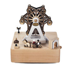 Wooderful Life Hand Made Wooden Music Box Ferris Wheel And Carriage Gift
