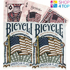 2 DECKS OF BICYCLE AMERICAN FLAG POKER PLAYING CARDS DECK HERITAGE HISTORY USPCC