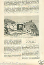 Fortress Forteresse d'Alyzia Arcanie Arcania Greece Grece GRAVURE OLD PRINT 1860