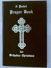 "Pocket Prayer Book for Orthodox Christians -Black Vinyl Cover (3.5"" x 5"") -NEW"