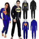 Superman Batman Jumpsuit Womens Mens Super Hero All In One Piece Onesie Playsuit