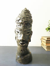 Sculpture HEAD Glazed - Clay Mid Century Modern Sculpture, Odd and Unique