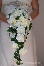 Ramo de flores de Novia crema Calla con Banda diamantes de imitación,Boda Novia,