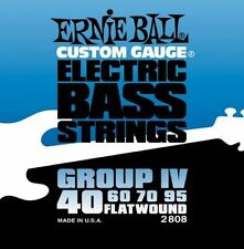 ERNIE BALL 2808 FLATWOUND BASS GUITAR STRINGS 40 - 95 FLAT WOUND
