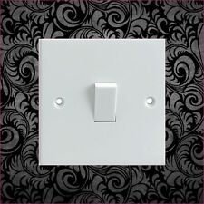 Black Floral Pattern Electrical Light Switch Surround Printed Vinyl Sticker