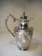 Quality Silver Plate Pitcher , Jug , Claret Jug   ref 2606