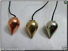 Teardrop Chamber 3 Metal Pendulum A++ Copper Gold Silver Plating Healing Dowsing