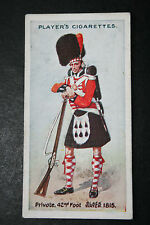 42nd Foot  Black Watch    British Army Original 1912 Vintage Card  VGC