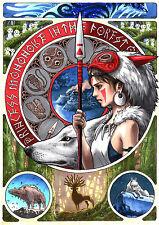 """Princess Mononoke Poster Anime Art Silk Posters Wall Decor Prints 24x34"""" PcM11"""