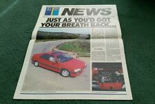 July 1988 PEUGEOT TALBOT NEWS 405 inc Mi16 205 CJ OPEN MURVI METEOR UK BROCHURE