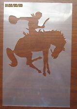Cowboy on Horse Stencil for Airbrush, Crafting, Artwork, Wall Art, etc..