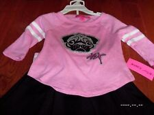 NEW NWT BETSEY JOHNSON girls 2T outfit set PINK PUG Skirt shirt designer DOG