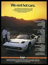 1987 Ferrari 308 white car photo Budget Rent-A-Car vintage print ad