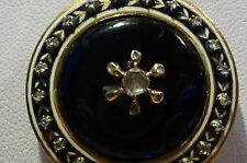 Victorian Gold Photo Pendant with 28 Rose Cut Diamonds, Enameling, & 18k Chain