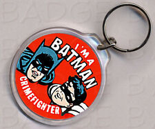 BATMAN CRIMEFIGHTER ROUND KEYRING - SO COOL!