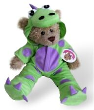 Teddy Bear Clothes fit Build a Bear Teddies My Green Dinosaur Onesie & Slippers
