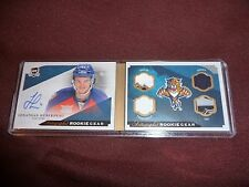 13-14 THE CUP Jonathan Huberdeau Auto Booklet Rookie Game Gear 25/25 RC 1/1 Last