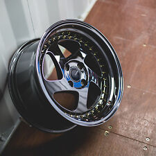 JDM VORDOVEN WHEELS 16X8 4X100 +25 OFFSET PLATINUM SET OF 4 RIMS
