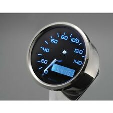 "DAYTONA 2.4"" ELECTRONIC MINI SPEEDOMETER GAUGE BLUE ILLUMINATION  HARLEY METRIC"
