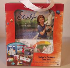 American Girl Saige's (Sage)  Canvas Art Set, 2 Saige Books and Poster - NEW