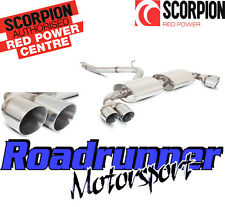 Scorpion SAUS026 AUDI TT MK2 3.2 V6 Exhaust System Cat Back Non Res Quad Daytona
