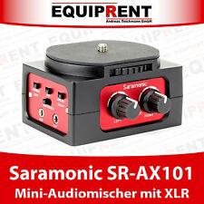 Saramonic sr-ax101 Mezclador de audio/mezclador de audio para DSLR con 2x entrada XLR (eqb67)
