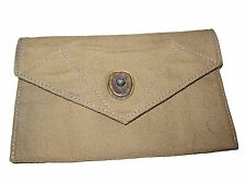 RRL Ralph Lauren Distressed Canvas Leather Envelope Military Belt Wallet Case
