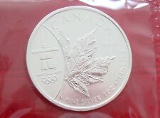 2008 CANADA $5 MAPLE LEAF COIN - RCM Sealed - UNC 1 OZ 99.99% Silver - Olympics
