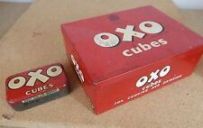 2x Oxo tins large 24 x6's and 6 oxo cubes 1950's examples. .