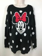 Divided H&M DISNEY Minnie Mouse Wool Mohair Blend Pullover Sweater Size XS