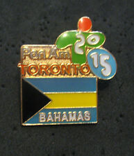TORONTO 2015 Pan Am Olympic Games LIMITED Bahamas NOC delegation flag team pin
