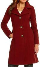 Anne Klein Red Wool Cashmere Blend Coat US Size 10 NWT