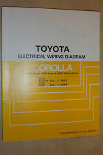 TOYOTA COROLLA 4WD OEM SHOP FACTORY ELECTRICAL WIRING DIAGRAMS MANUAL 1987/88