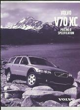 VOLVO V70 XC DETAILED PRICES,SPECIFICATIONS.ACCESSORIES, COLOURS BROCHURE 2002