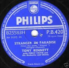 UK #1 TONY BENNETT 78 STRANGER IN PARADISE /TAKE ME BACK AGAIN PHILIPS PB 420 EX
