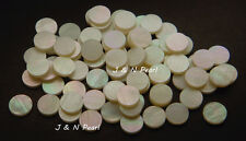 """20+2pcs Free 6.35mm/1/4"""" White Mother of Pearl Dots,Pure White,Shiny Front"""