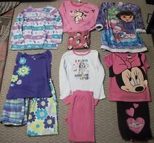 LOT OF 6 PAJAMAS NIGHTGOWNS CARTER'S BETTY BOOP DORA MINNIE MOUSE GIRLS SZ 6 6X