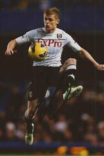 FULHAM: DAMIEN DUFF SIGNED 6x4 ACTION PHOTO+COA