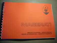 Service Manual MASERATI SHAMAL V 8 Motore Motor Workshop Manual Werkstattbuch